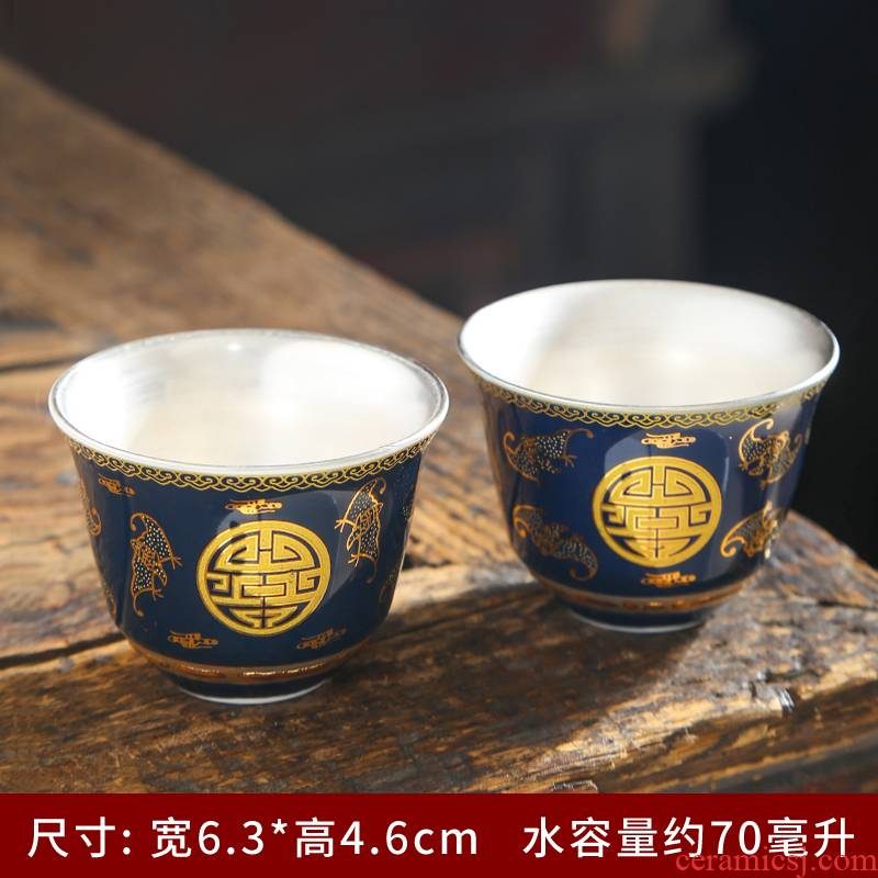 Blue and white porcelain ceramic colored enamel porcelain cups sample tea cup master cup personal single CPU hat to a cup of tea light cup