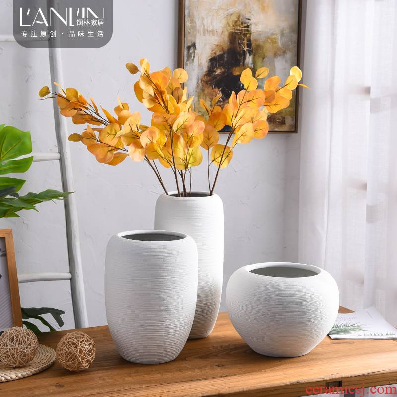 The Nordic idea I and contracted vase jingdezhen ceramic table of TV ark place dried flower arranging flowers sitting room adornment