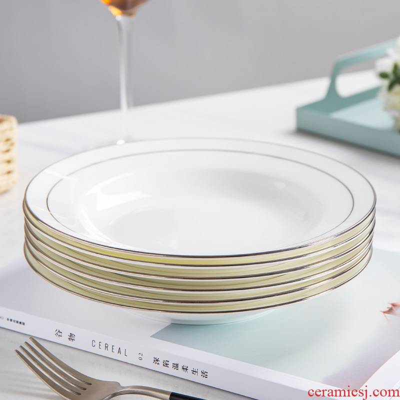 White ipads China up phnom penh contracted household ceramics tableware suit round expressions using dish soup plate plate more dishes