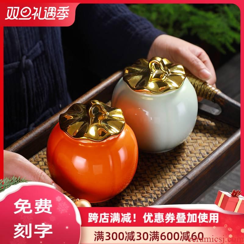 The Jar boutique high - end fashion creative move ceramic tea caddy fixings canned tea sealed tank storage tanks