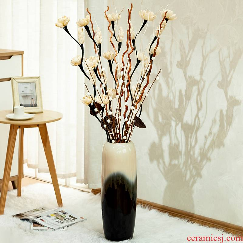 I and contracted creativity ground dried flower vase home sitting room simulation flower arranging ceramic vases, decorative furnishing articles