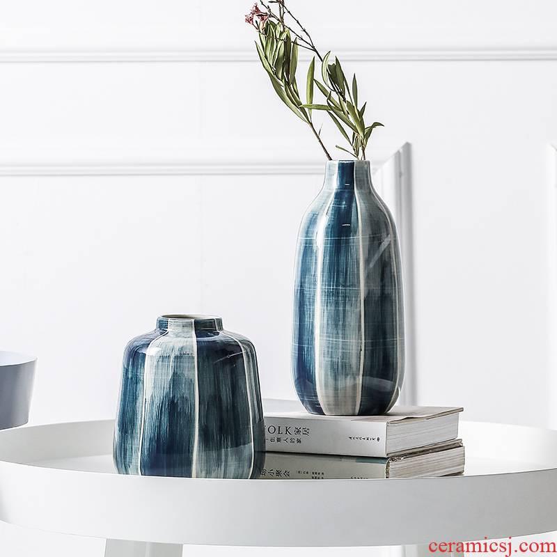 Ceramic vase light key-2 luxury furnishing articles sitting room porch TV ark, dried flowers, flower arrangement eat European wind table of home decoration