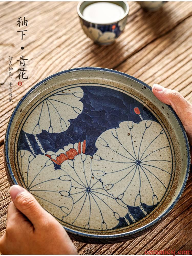 Jingdezhen hand - made porcelain pot of bearing dry Taiwan pure manual Japanese tea accessories bearing restoring ancient ways of ceramic kunfu tea tea