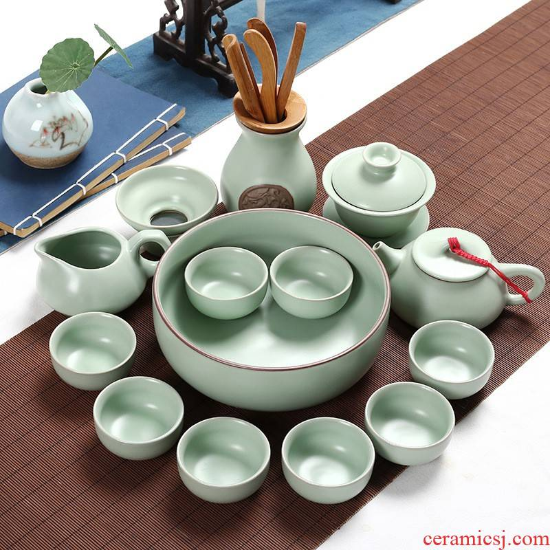 Hui shi brother your up up ceramic kung fu tea set a complete set of blue and white porcelain teapot teacup tea tray tea accessories