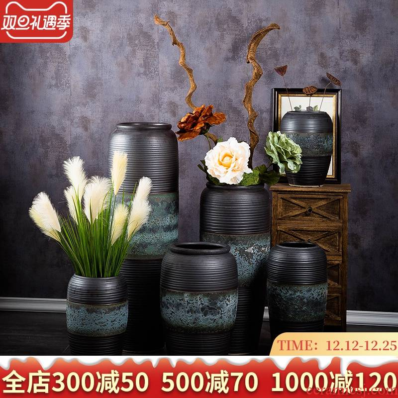 Jingdezhen ceramic vase landing a large sitting room is I and contracted style restoring ancient ways decoration to the hotel club house furnishing articles