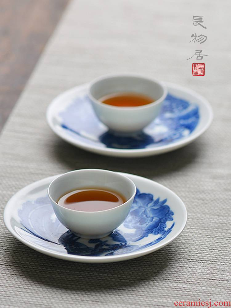 Offered home - cooked at flavour hand - made of blue and white porcelain cup mat cup tea saucer dish of jingdezhen ceramic tea set manually
