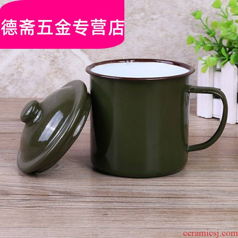 Nostalgic classic army green gargle cup cup cup technicians to restore ancient ways the old tea urn ChaGangZi brushing your teeth enamel