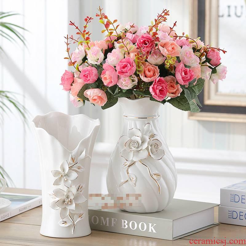 European ceramic vase furnishing articles sitting room simulation flower arranging flower flower implement creative home wine table decorations