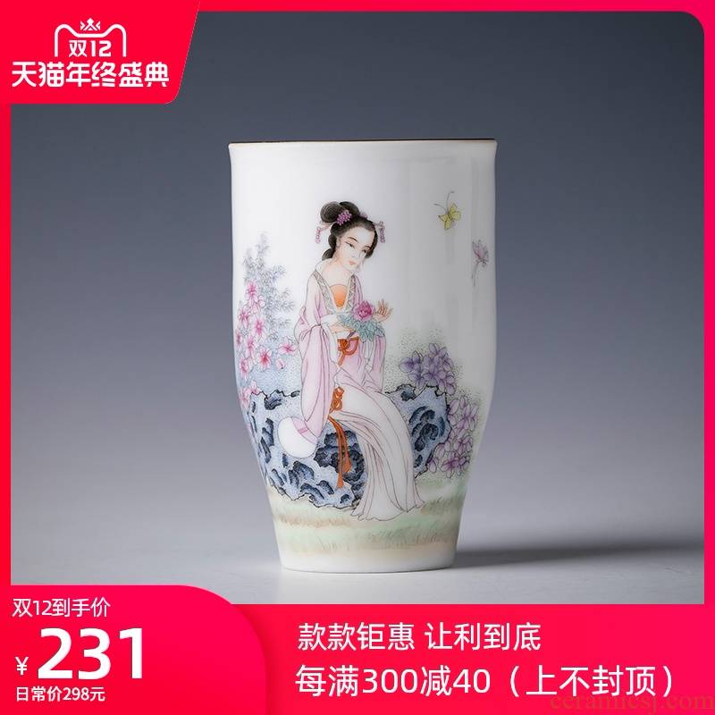 Santa teacups hand - made ceramic kung fu new see colour heyday poly real sweet cup master cup sample tea cup of jingdezhen tea service