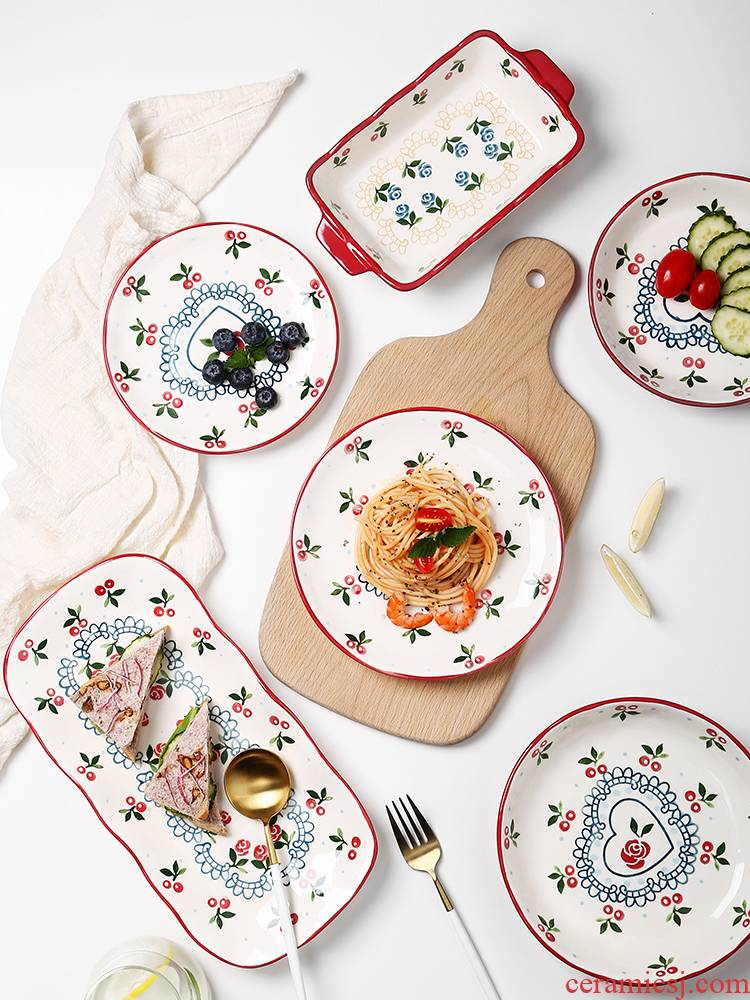 Web celebrity ins wind plate good - & fish dishes creative move dishes home sweet home ceramic plate tableware
