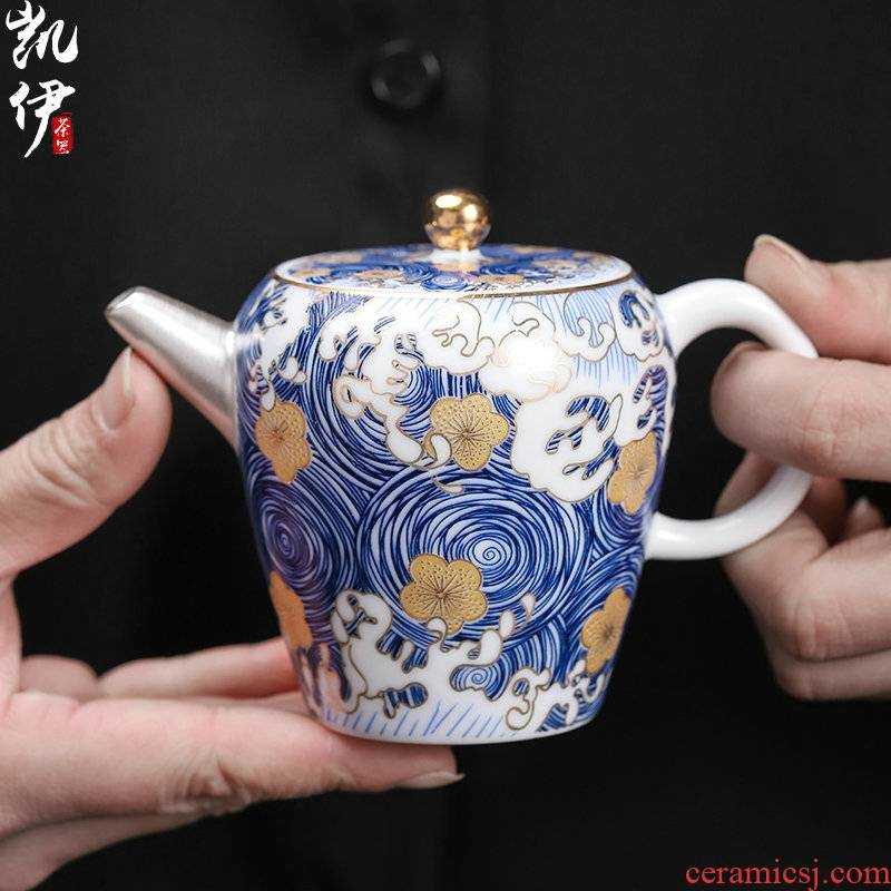 Enamel playmates toys empty coppering. As silver 999 jingdezhen ceramic teapot gold finger pot of silver teapot office to rush the teapot