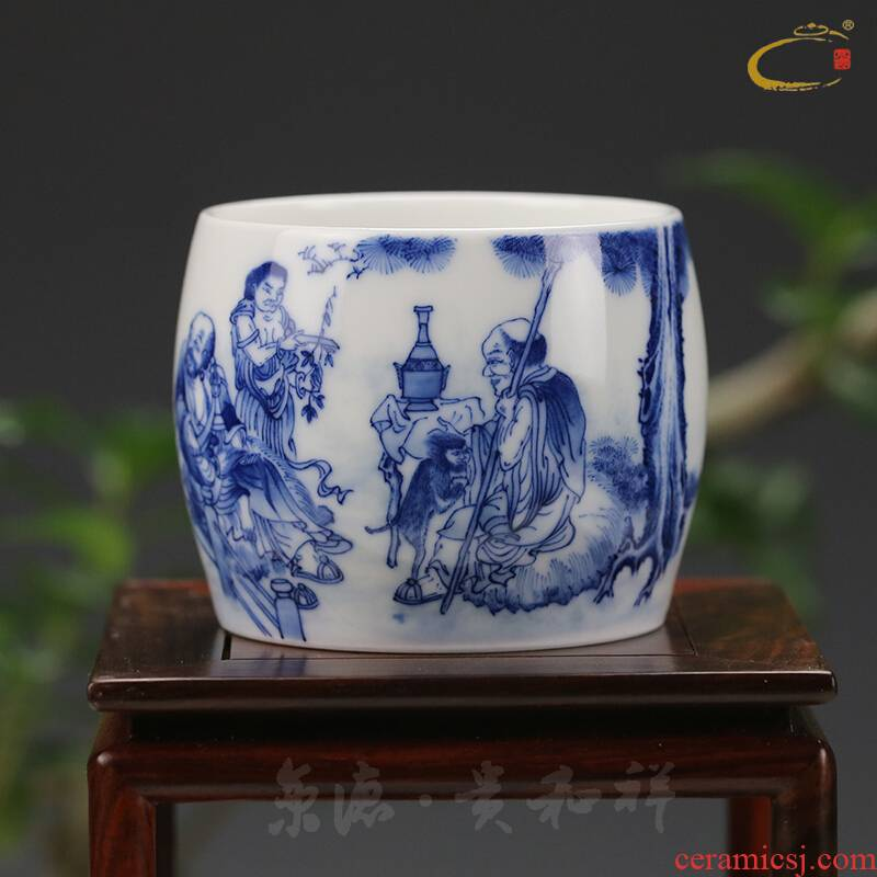 Beijing DE and auspicious jingdezhen ceramics by hand personal cup sample tea cup cup cup master cup dedicated private single CPU