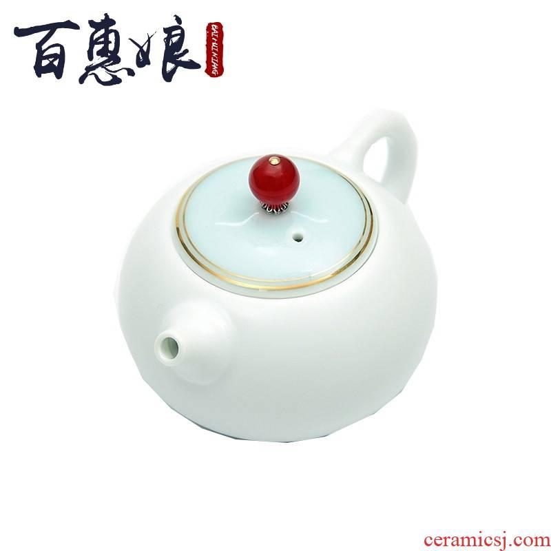 (niang high - end travel tea set ceramic up with a pot of four cups of kung fu tea teapot teacup tea tray