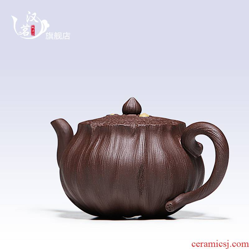 """Shadow enjoy"" yixing it pure manual and old purple clay teapot tea pot lotus lotus seed pot of kung fu tea set"