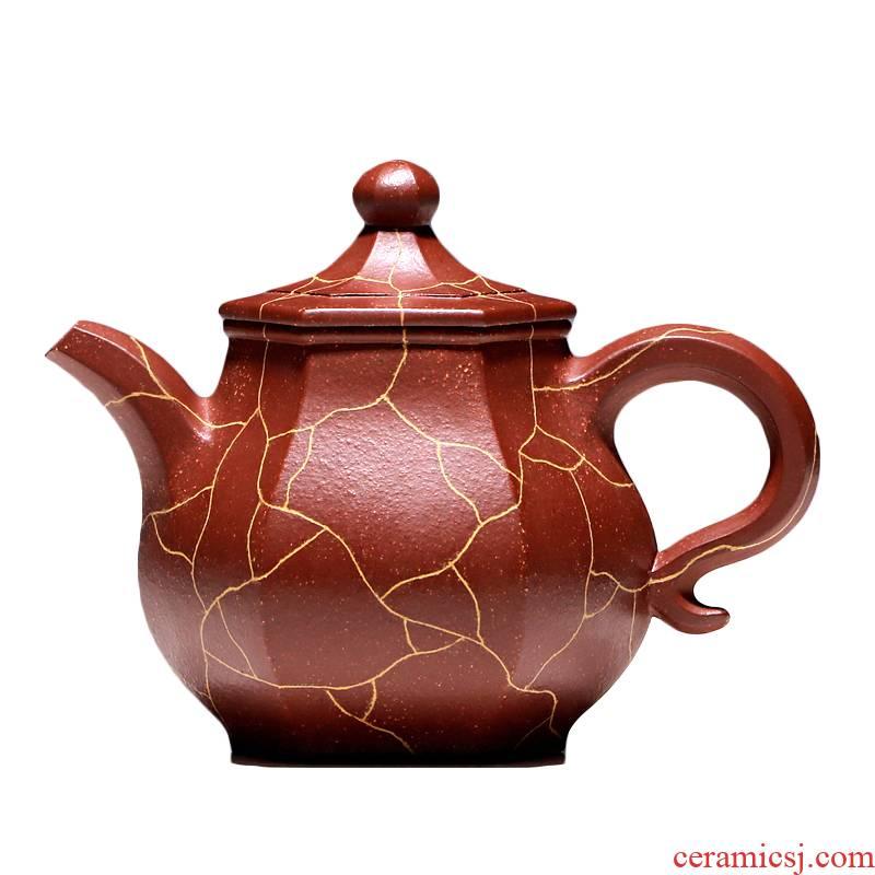 """Shadow enjoy"" yixing undressed ore it TaoJianChun manual teapot tea red one dragon on the six - party 300 cc"