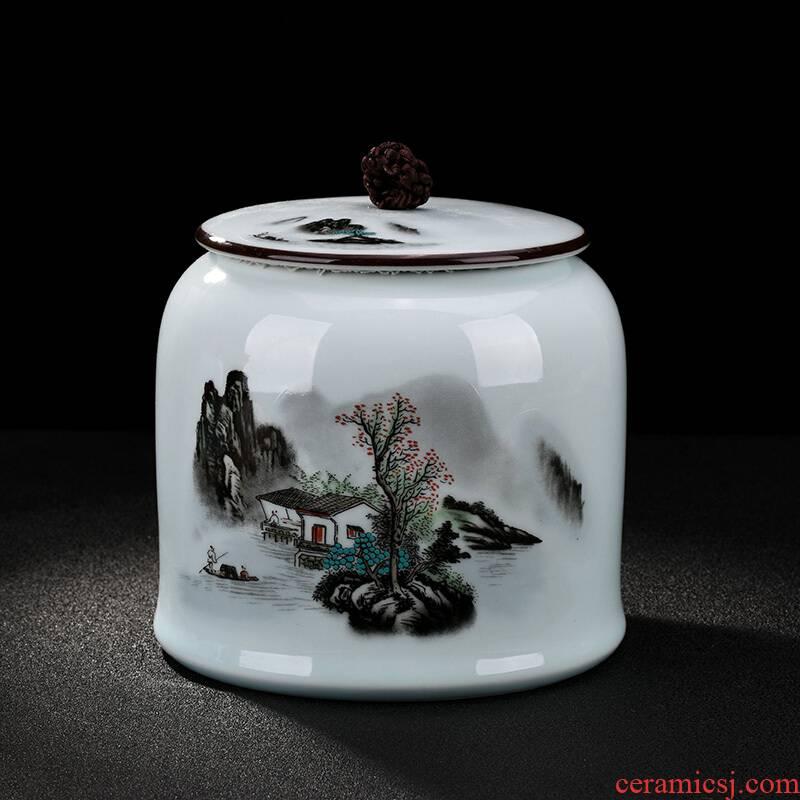 Poly real scene seaweed mask hand - made ceramic tea pot large pu 'er tea seal pot mask order