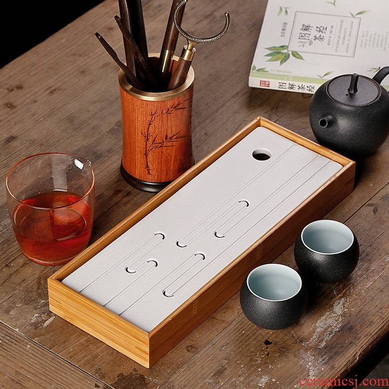 Bamboo dry terms Taiwan tea tray zen Japanese Bamboo ceramic small pallet storage type contracted household tea tea tray
