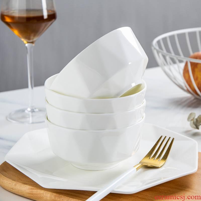 White star anise ipads bowls disc suit jingdezhen under glaze color porcelain Nordic contracted tableware suit household use