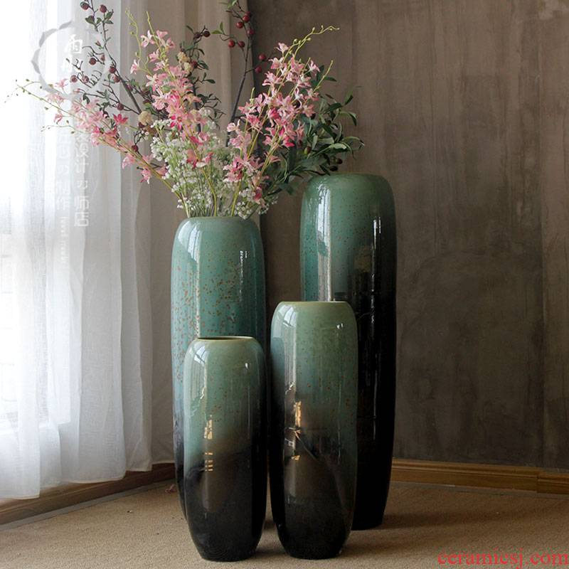 Jingdezhen dried flowers of large ceramic I and contracted flower arranging flowers in the sitting room porch ark, lucky bamboo furnishing articles