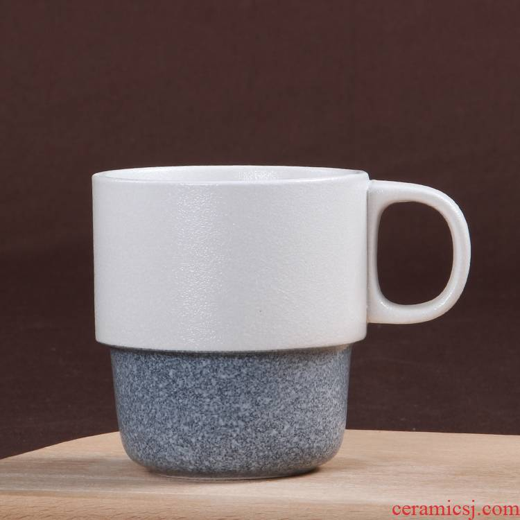 Qiao mu for wash gargle cup Japanese ceramic cup snow atop the creative tableware glaze keller cup coffee cup
