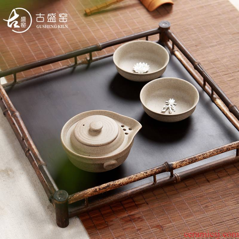 Ancient sheng up 2 new gems with silver crack cup thick now suit whitebait cup pot of two glass ceramic travel