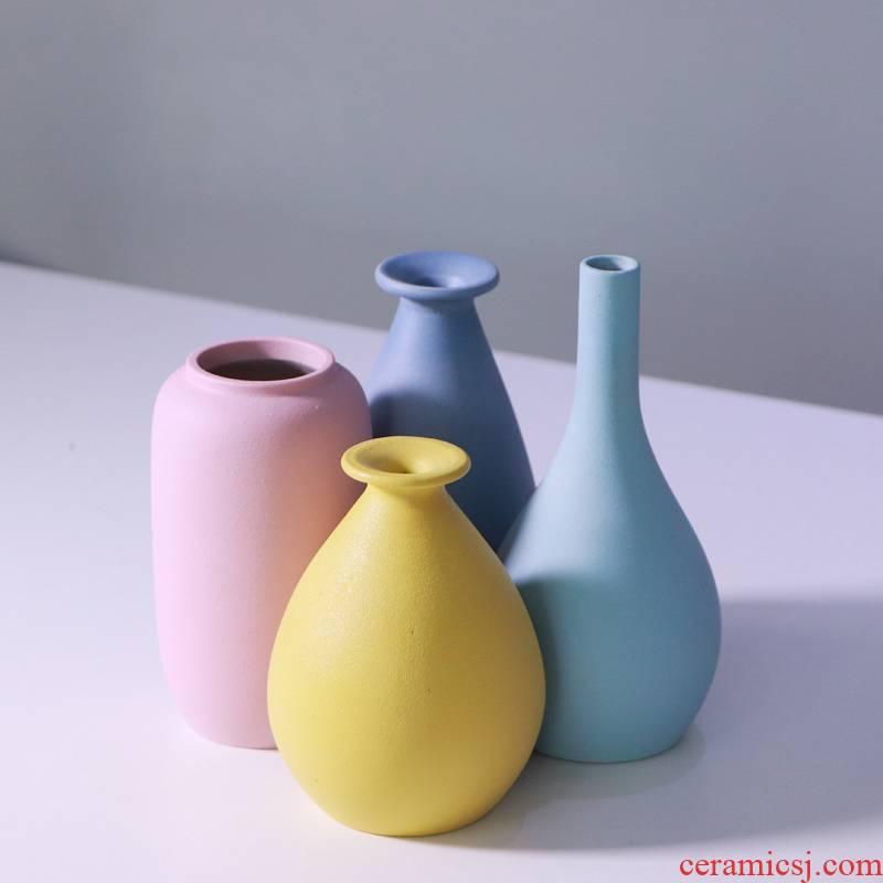 Nordic ceramic vase furnishing articles contracted home stay creative studio art move floret bottle of flower arrangement