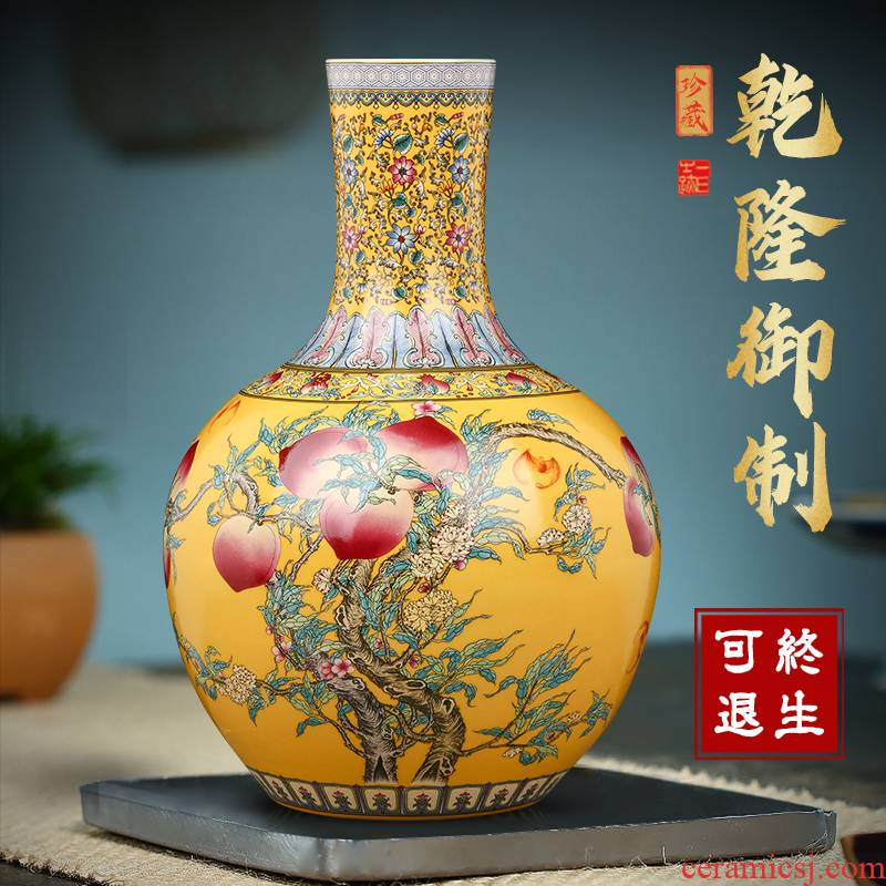 Jingdezhen ceramics vase antique flower arranging TV ark, the sitting room of Chinese style household porcelain decoration office furnishing articles