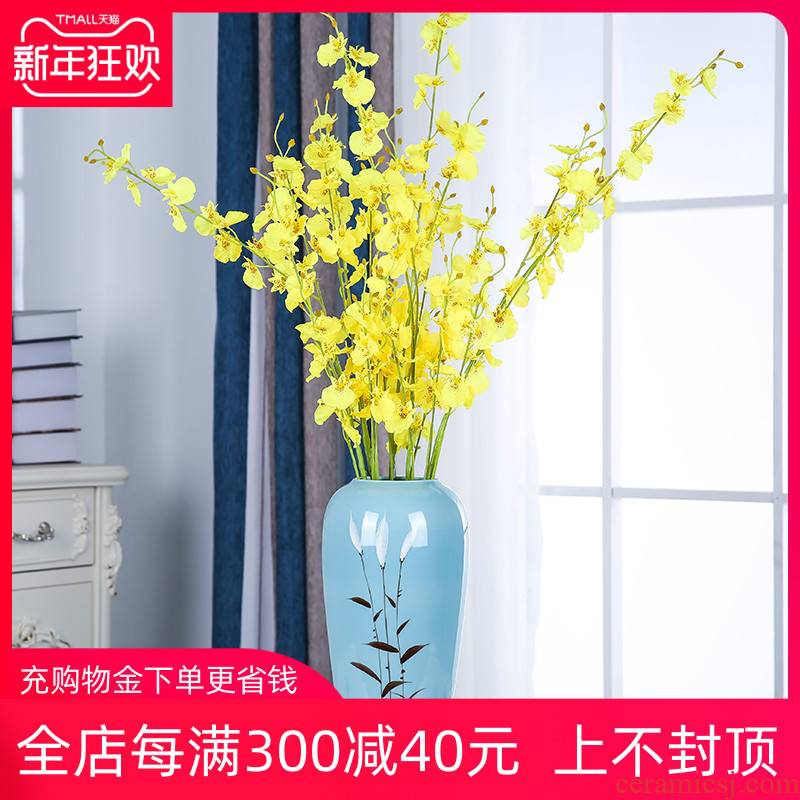 Jingdezhen ceramics I and contracted Nordic dried flower vase planting flowers home wine sitting room adornment is placed