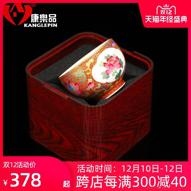 Recreation is tasted wire inlay enamel see yulan CPU master cup jingdezhen ceramic sample tea cup kung fu tea tea cups