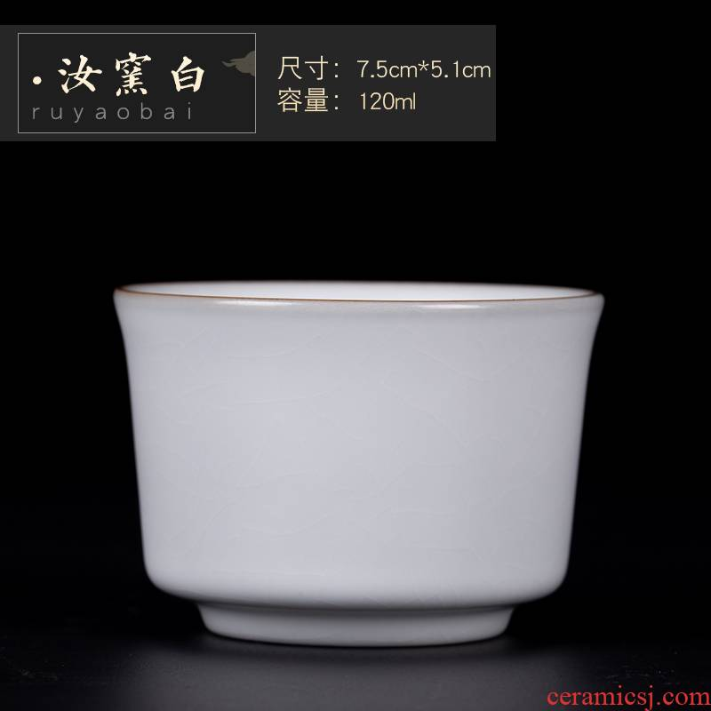 Poly real (view your up with jingdezhen ceramic cups master cup sample tea cup single peace cup kung fu tea set