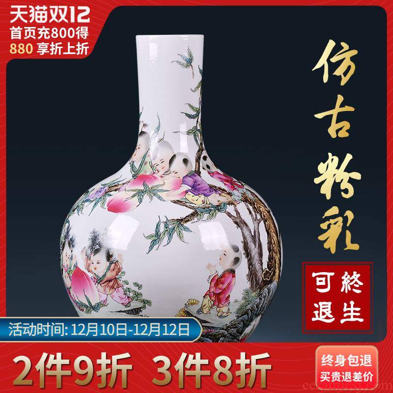 Jingdezhen ceramic vases, Chinese style of the ancients tree sitting room porch TV ark, home decoration flower arranging furnishing articles