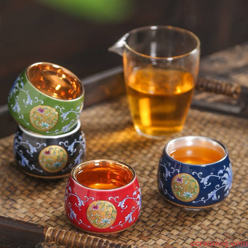 999 sterling silver cup silver cup jingdezhen ceramic cups colored enamel kungfu bladder coppering. As silver bowl masters cup