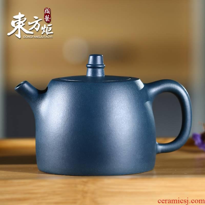 Shadow at yixing han priests are it by pure manual azure mud pot teapot tea set DFJ