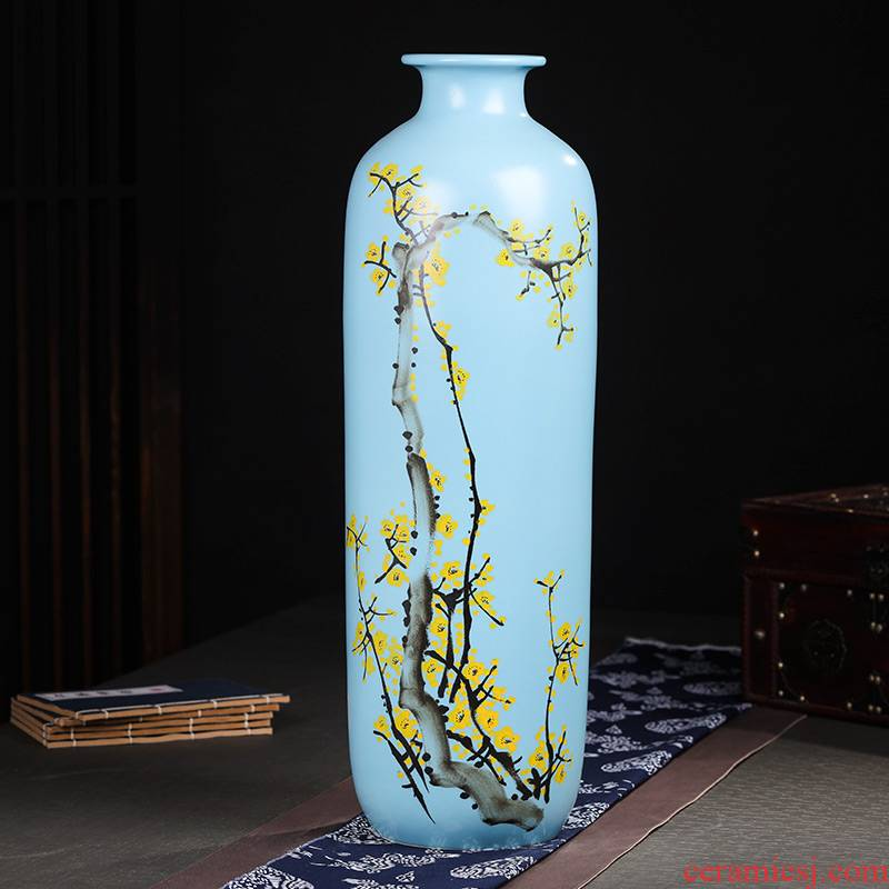 Jingdezhen ceramics high hand - made vases, flower arranging landing place, a new Chinese TV ark, large sitting room adornment