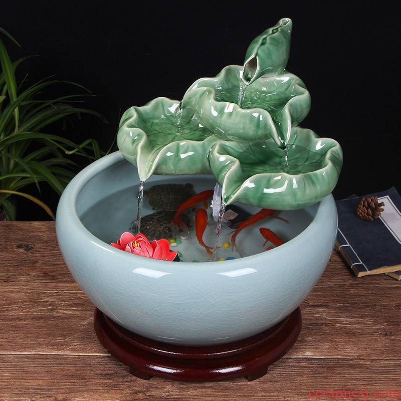 Jingdezhen ceramic aquariums household water fountain jin large fish basin landscape of furnishing articles sitting room adornment