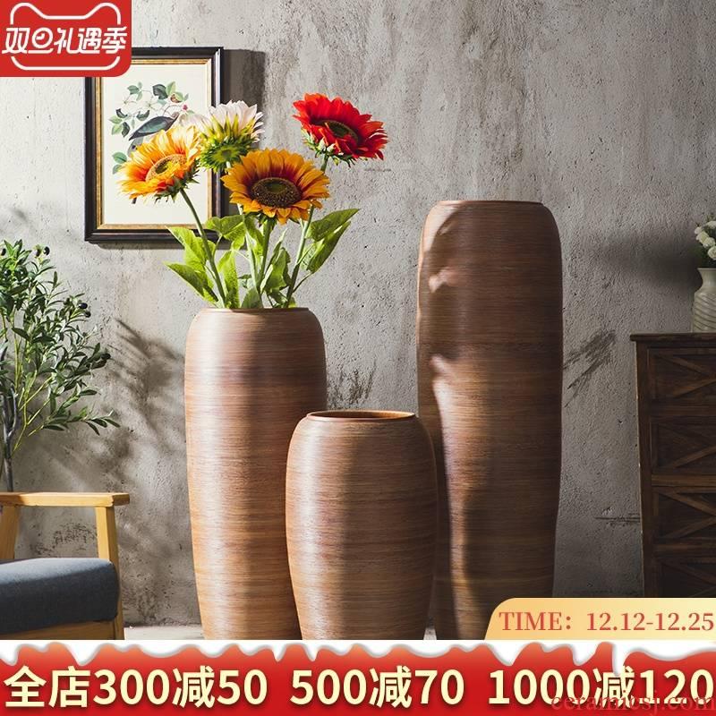 Ground vase large hotel lobby garden club decorative ceramic place a large pot of jingdezhen large arranging flowers