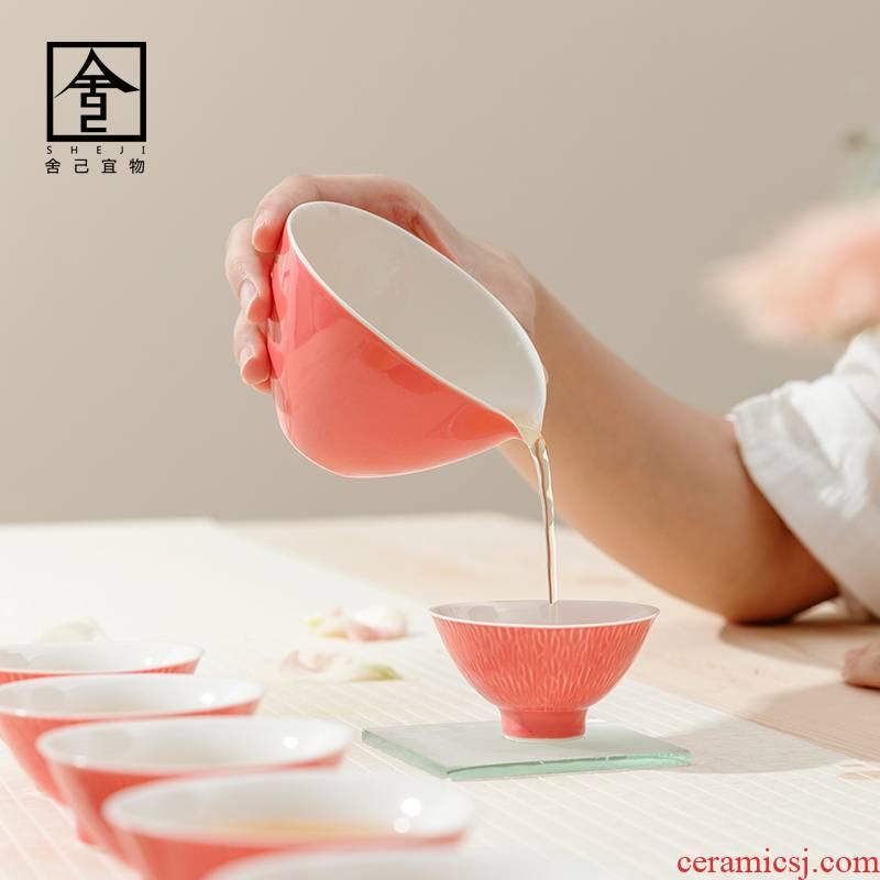 "Self - ""appropriate content carmine fair keller Japanese contracted jingdezhen manual points cups of tea, the tea set"