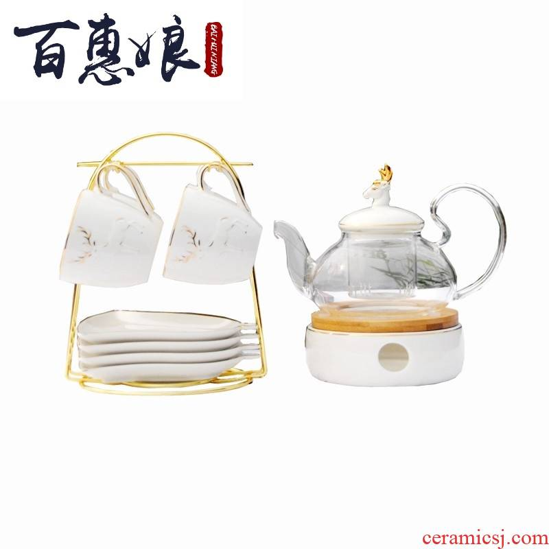 (niang European contracted ceramic glass tea tea based heating Japanese fruit tea English afternoon tea