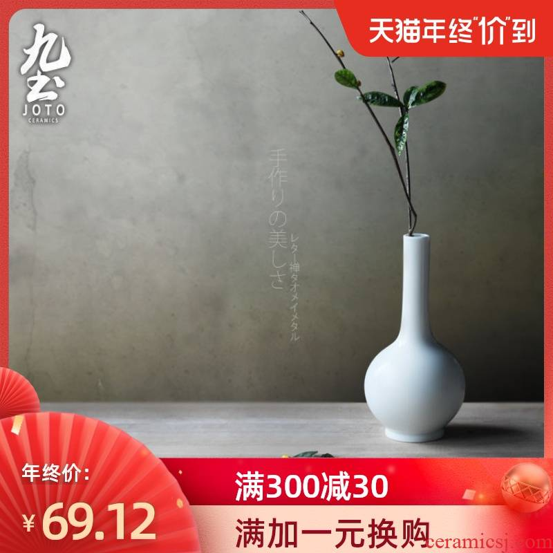 About Nine soil ceramic white vase tea table manually place new Chinese style is contracted household act the role ofing is tasted flower tea zen flower