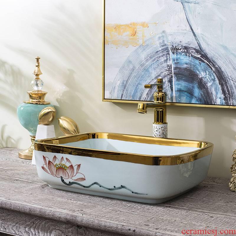 Jingdezhen ceramic stage basin art lavatory toilet lavabo balcony fangyuan sink