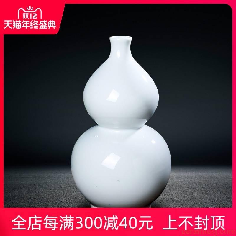 Jingdezhen ceramics I and contracted white vase sitting room porch ark place decorative bottle gourd bottle arranging flowers