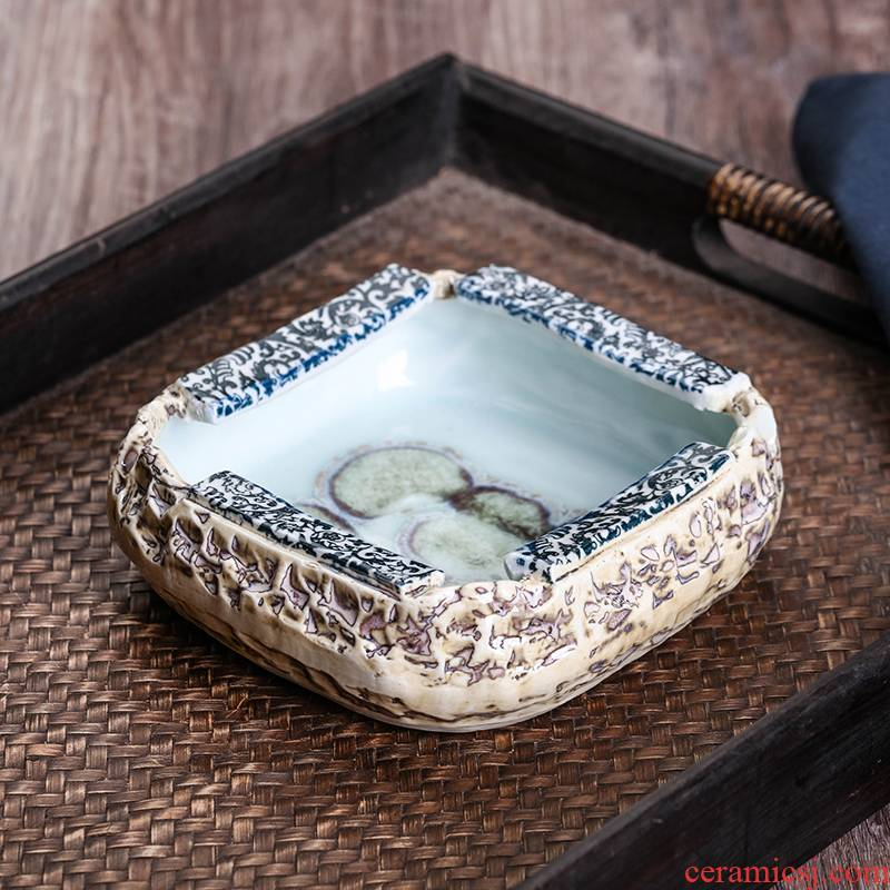 Jingdezhen ceramics ashtray Chinese style restoring ancient ways is the sitting room living room office furniture creative move feng shui furnishing articles