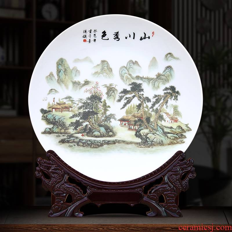The Yellow mountains xiuse decorative plate to industry