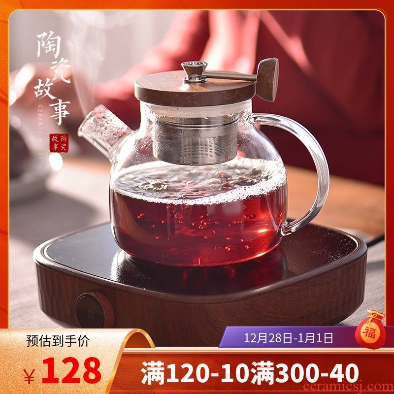 Electric ceramic story TaoLu boiling tea ware suit household glass high - temperature small tea, black tea cooking pot