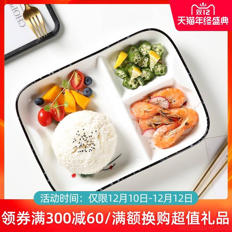 Ceramic dish dish dish creative household means space cent eat dish one breakfast dish lose fat fast food dish food tableware