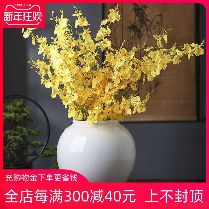 Mesa of jingdezhen ceramics white vase furnishing articles sitting room porch dry flower arranging hotel European modern ornament
