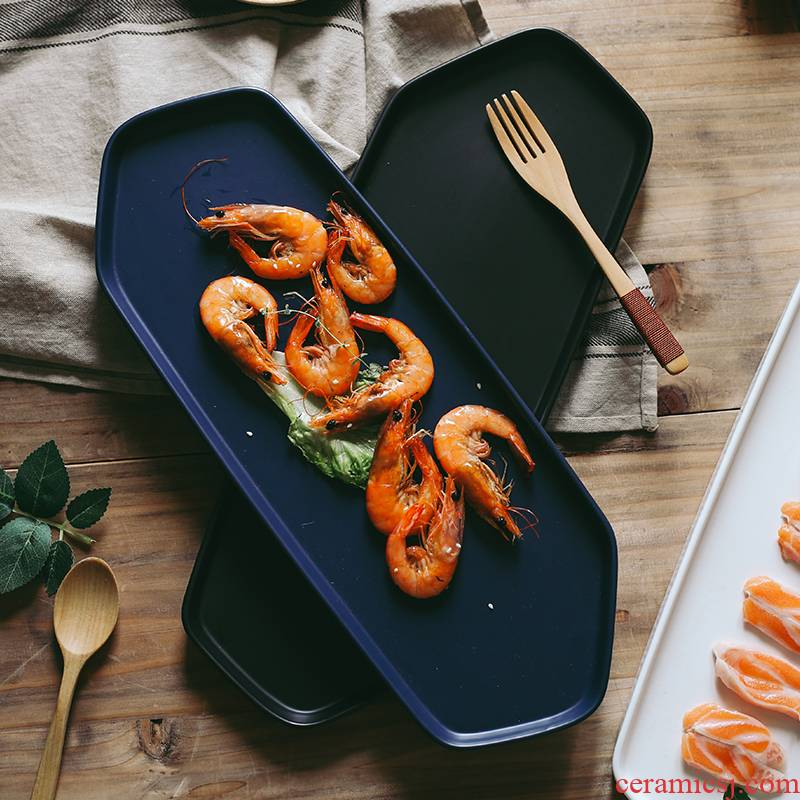 The Nordic idea ceramic sushi plate of irregular household dish plate breakfast dish tray plates western - style food