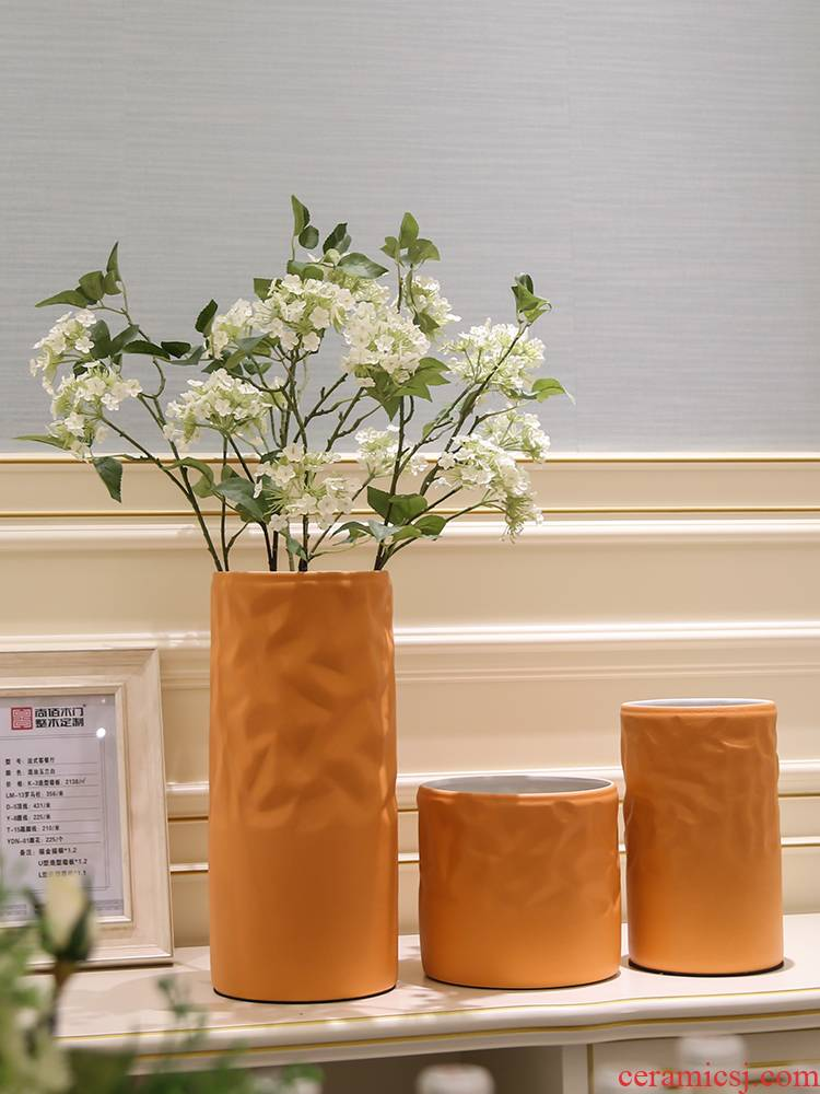 Jingdezhen I and contracted Europe type ceramic vase furnishing articles dry flower vases, flower arranging, TV ark place decoration
