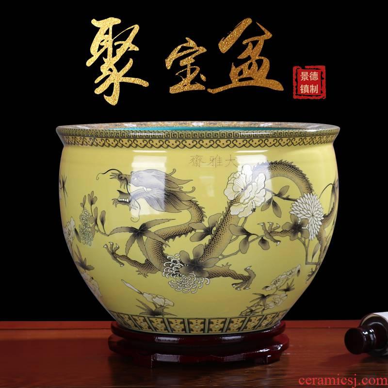 Cornucopia tank aquarium jingdezhen ceramics sitting room feng shui furnishing articles office desktop decorations arts and crafts