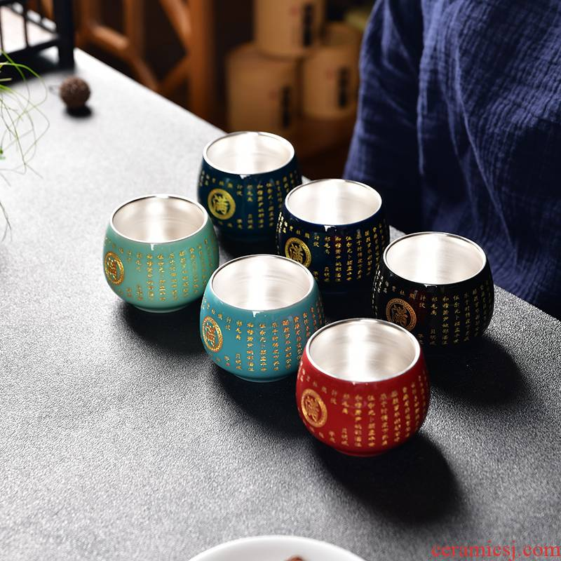 Coppering. As silver surname custom cup master cup tea cup ceramic cups, sample tea cup pure manual white porcelain kung fu tea set